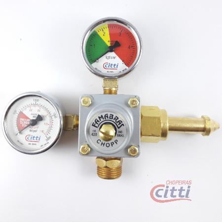 Regulador Pressão CO2 - 01 saída