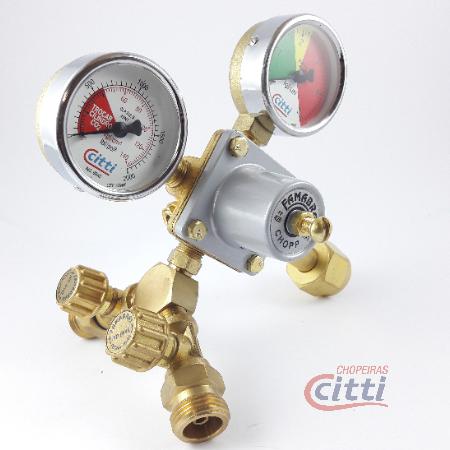 Regulador Pressão CO2 - 02 saídas